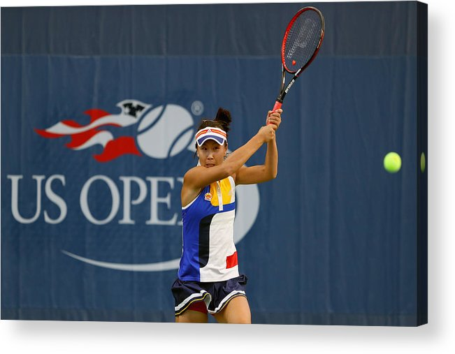 Tennis Acrylic Print featuring the photograph 2017 US Open Tennis Championships - Day 1 by Richard Heathcote