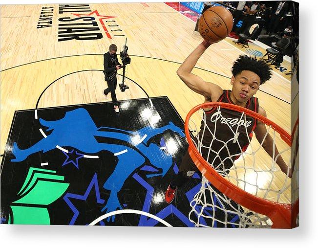 Atlanta Acrylic Print featuring the photograph 2021 NBA All-Star - AT&T Slam Dunk Contest by Joe Murphy