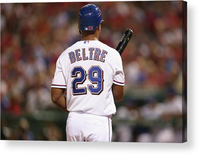 Adrian Beltre Acrylic Print featuring the photograph Adrian Beltre by Ronald Martinez