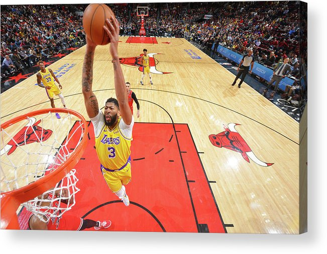 Nba Pro Basketball Acrylic Print featuring the photograph Anthony Davis by Jesse D. Garrabrant