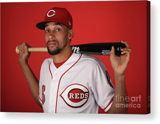 Media Day Acrylic Print featuring the photograph Billy Hamilton by Christian Petersen