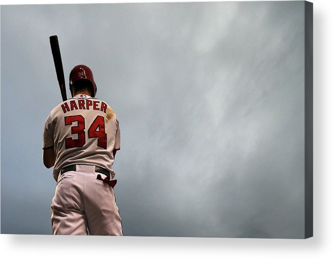 Three Quarter Length Acrylic Print featuring the photograph Bryce Harper by Patrick Smith