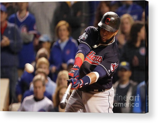 Second Inning Acrylic Print featuring the photograph Carlos Santana by Jamie Squire