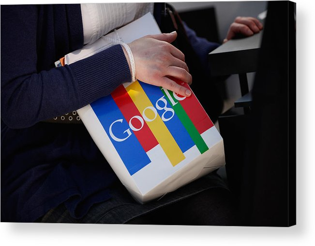 Corporate Business Acrylic Print featuring the photograph CeBIT 2011 by Sean Gallup