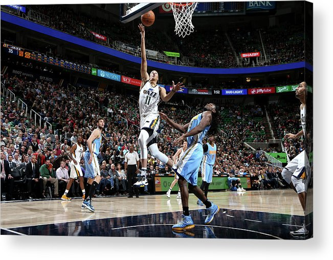 Nba Pro Basketball Acrylic Print featuring the photograph Dante Exum by Melissa Majchrzak