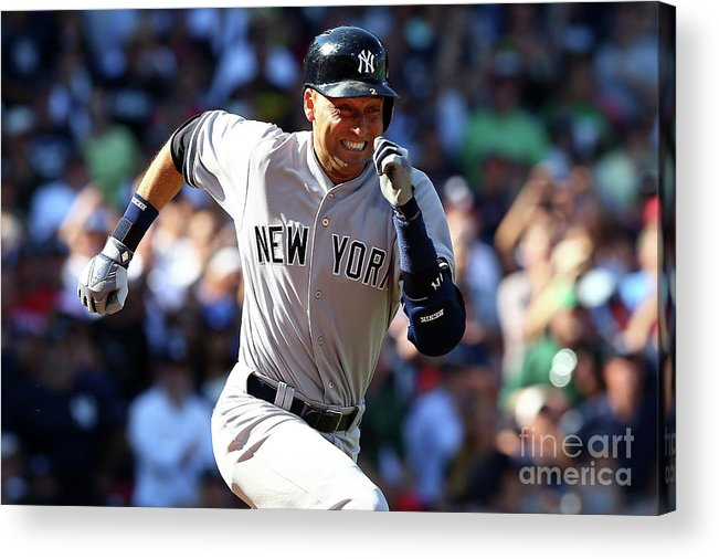 American League Baseball Acrylic Print featuring the photograph Derek Parks by Elsa