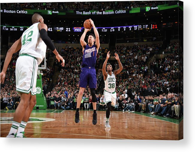 Nba Pro Basketball Acrylic Print featuring the photograph Devin Booker by Brian Babineau