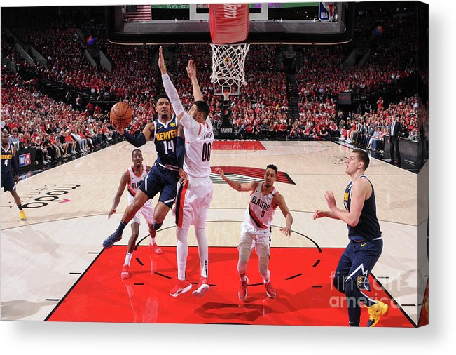 Playoffs Acrylic Print featuring the photograph Gary Harris by Sam Forencich