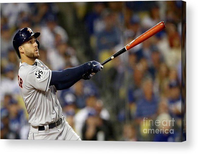 Three Quarter Length Acrylic Print featuring the photograph George Springer by Ezra Shaw