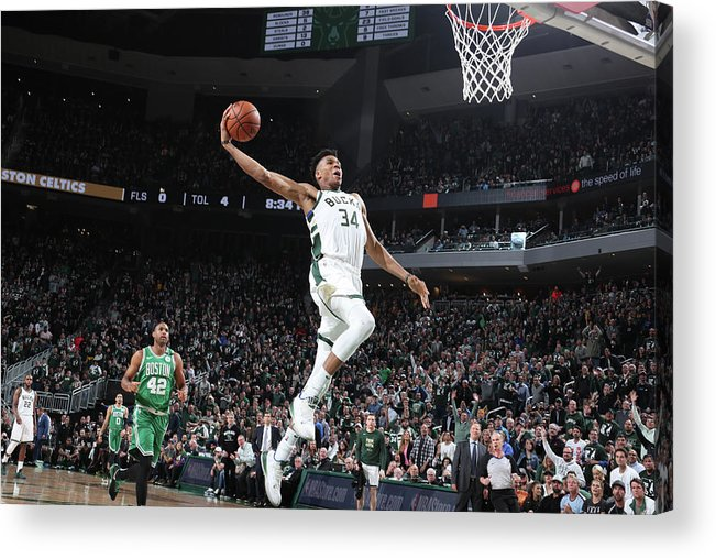 Playoffs Acrylic Print featuring the photograph Giannis Antetokounmpo by Nathaniel S. Butler