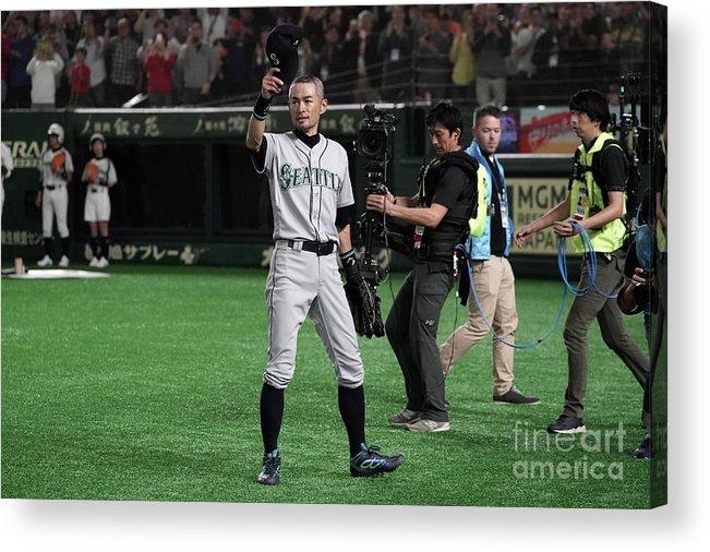 People Acrylic Print featuring the photograph Ichiro Suzuki by Masterpress