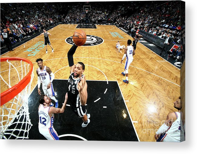 Nba Pro Basketball Acrylic Print featuring the photograph Jahlil Okafor by Nathaniel S. Butler