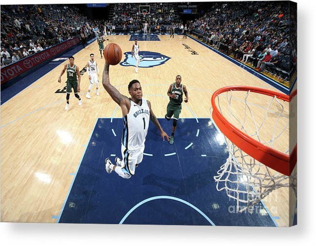 Nba Pro Basketball Acrylic Print featuring the photograph Jarell Martin by Joe Murphy