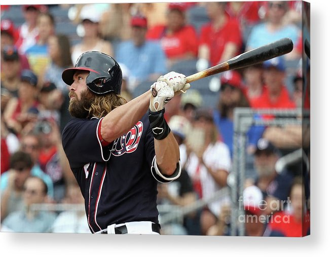 Following Acrylic Print featuring the photograph Jayson Werth by Rob Carr