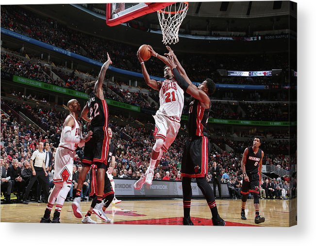 Nba Pro Basketball Acrylic Print featuring the photograph Jimmy Butler by Nathaniel S. Butler