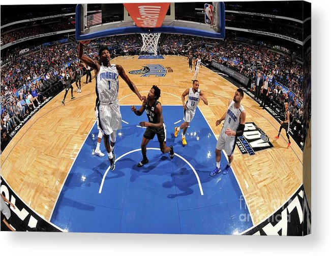 Nba Pro Basketball Acrylic Print featuring the photograph Jonathan Isaac by Fernando Medina