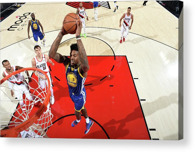 Nba Pro Basketball Acrylic Print featuring the photograph Jordan Bell by Andrew D. Bernstein