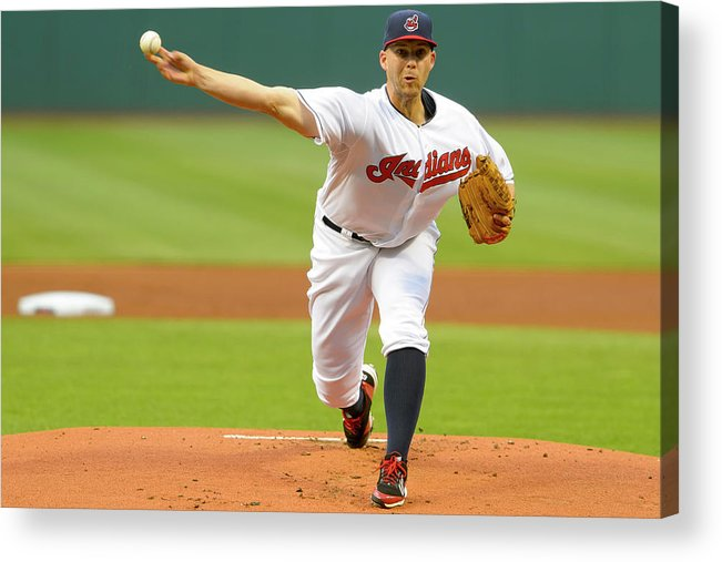 American League Baseball Acrylic Print featuring the photograph Justin Masterson by Jason Miller