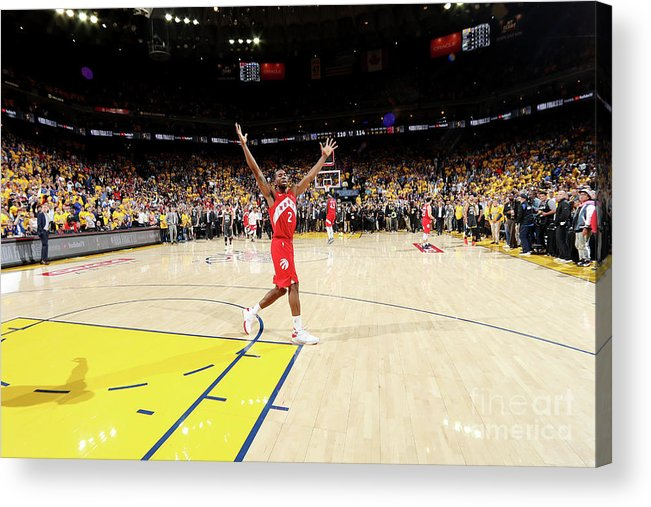 Playoffs Acrylic Print featuring the photograph Kawhi Leonard by Nathaniel S. Butler