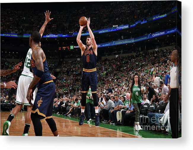Playoffs Acrylic Print featuring the photograph Kevin Love by Brian Babineau
