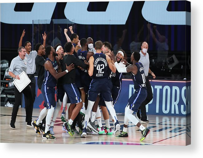 Playoffs Acrylic Print featuring the photograph LA Clippers v Dallas Mavericks - Game Four by Joe Murphy