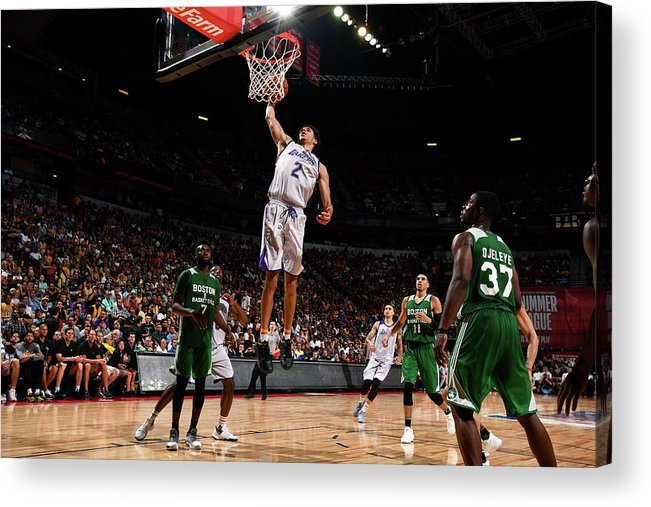 Nba Pro Basketball Acrylic Print featuring the photograph Lonzo Ball by Garrett Ellwood
