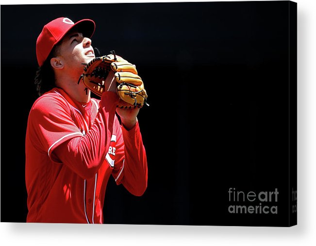 Great American Ball Park Acrylic Print featuring the photograph Luis Castillo by Joe Robbins