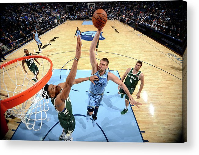 Nba Pro Basketball Acrylic Print featuring the photograph Marc Gasol by Jesse D. Garrabrant