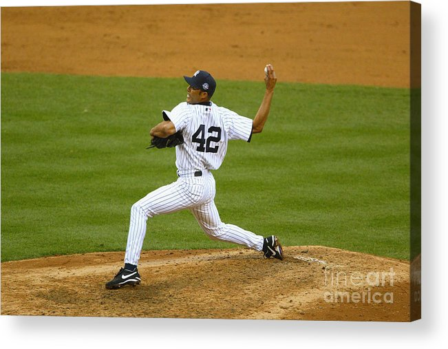 American League Baseball Acrylic Print featuring the photograph Mariano Rivera by Al Bello
