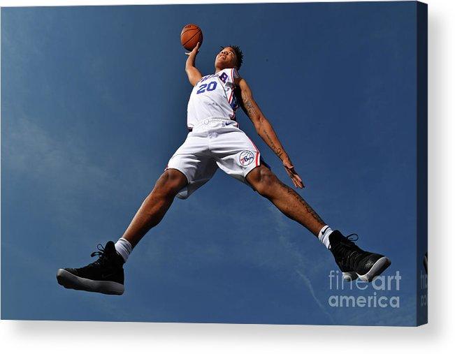Nba Pro Basketball Acrylic Print featuring the photograph Markelle Fultz by Jesse D. Garrabrant