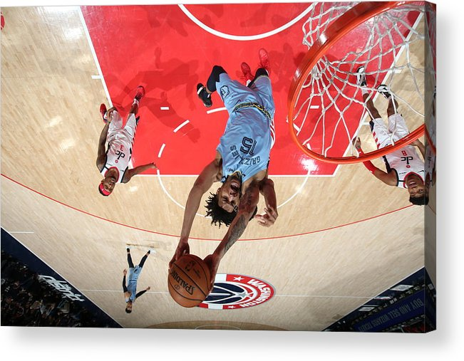 Nba Pro Basketball Acrylic Print featuring the photograph Memphis Grizzlies v Washington Wizards by Stephen Gosling