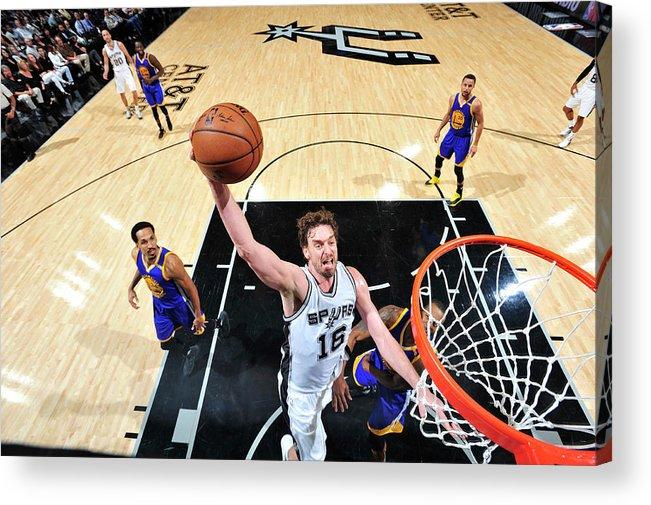 Nba Pro Basketball Acrylic Print featuring the photograph Pau Gasol by Mark Sobhani