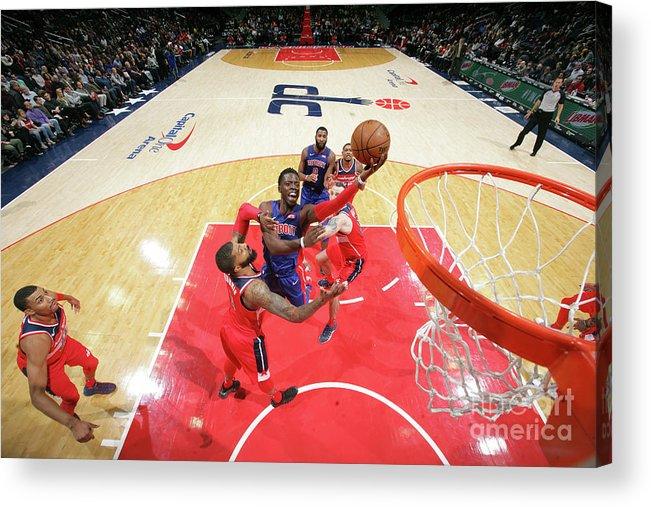 Nba Pro Basketball Acrylic Print featuring the photograph Reggie Jackson by Ned Dishman