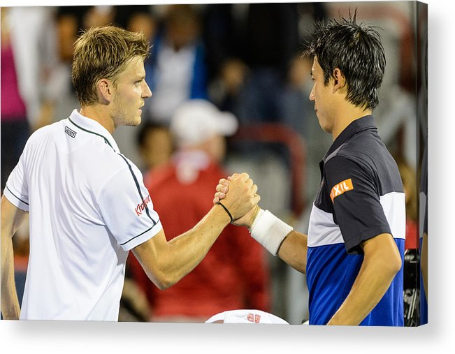 Tennis Acrylic Print featuring the photograph Rogers Cup Montreal - Day 4 by Minas Panagiotakis