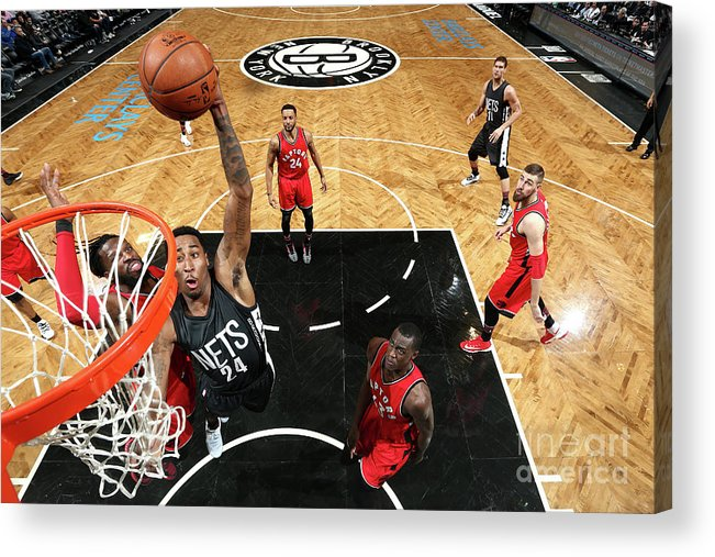 Nba Pro Basketball Acrylic Print featuring the photograph Rondae Hollis-jefferson by Nathaniel S. Butler