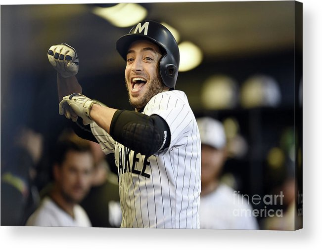 People Acrylic Print featuring the photograph Ryan Braun by Stacy Revere