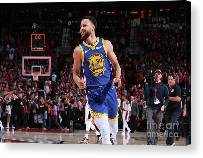 Nba Pro Basketball Acrylic Print featuring the photograph Stephen Curry by Sam Forencich