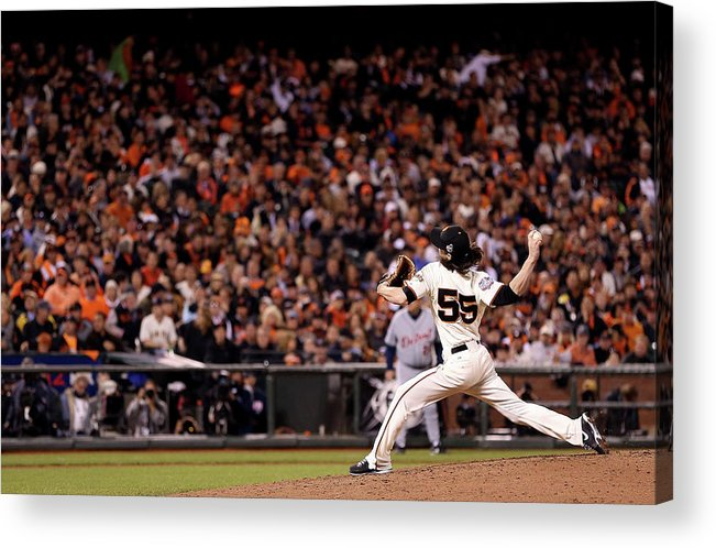 San Francisco Acrylic Print featuring the photograph Tim Lincecum by Christian Petersen