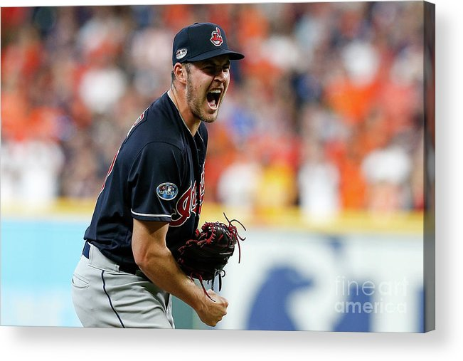 Game Two Acrylic Print featuring the photograph Trevor Bauer by Tim Warner