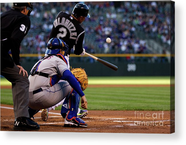 People Acrylic Print featuring the photograph Troy Tulowitzki by Justin Edmonds