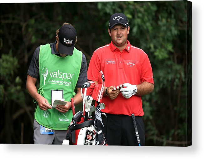 Patrick Reed Acrylic Print featuring the photograph Valspar Championship - Final Round by Sam Greenwood