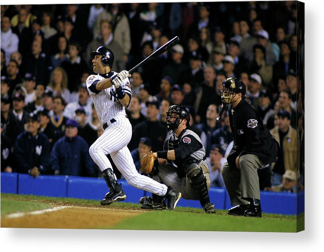 Sport Acrylic Print featuring the photograph Derek Jeter by Al Bello