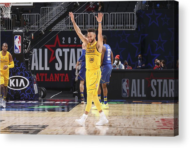 Atlanta Acrylic Print featuring the photograph Stephen Curry by Nathaniel S. Butler