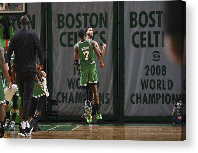 Nba Pro Basketball Acrylic Print featuring the photograph Jayson Tatum by Brian Babineau