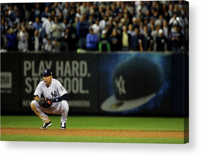 People Acrylic Print featuring the photograph Derek Jeter by Al Bello
