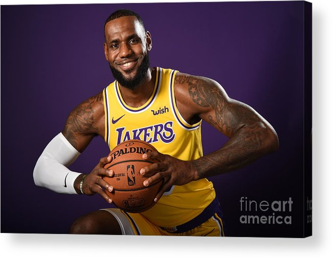Media Day Acrylic Print featuring the photograph Lebron James by Andrew D. Bernstein