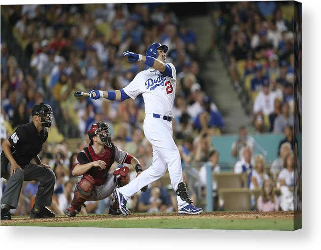 California Acrylic Print featuring the photograph Adrian Gonzalez by Stephen Dunn