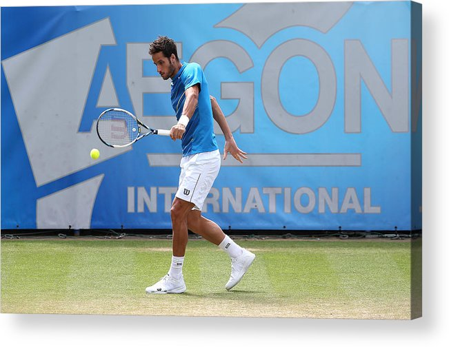 Tennis Acrylic Print featuring the photograph Aegon International - Day Seven by Jan Kruger