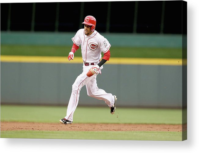 Great American Ball Park Acrylic Print featuring the photograph Billy Hamilton by Andy Lyons