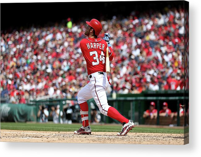 People Acrylic Print featuring the photograph Bryce Harper by Patrick Smith